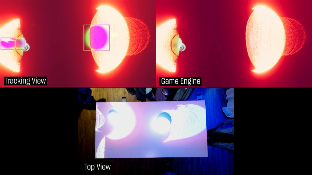 Game Engine View, Tracking View, and Top View.