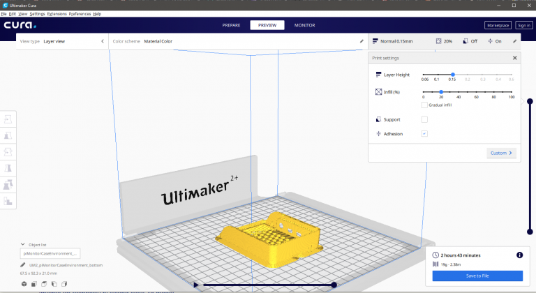 Cura Ultimaker 3D Print
