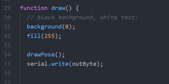 Implementation in the draw function.