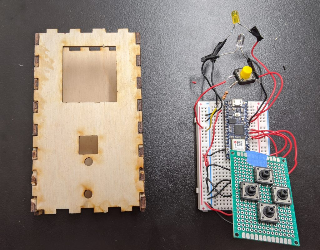Enclosure and circuit board.